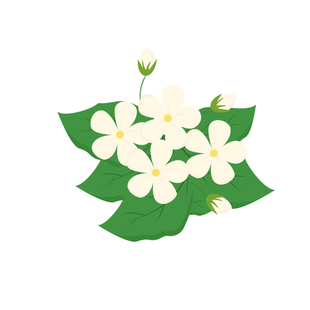 Flower on white background for graphic and web design, Modern simple vector sign. Internet concept. Trendy symbol for website design web button or mobile app