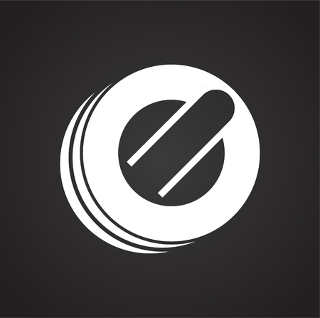 Curling icon on black background for graphic and web design, Modern simple vector sign. Internet concept. Trendy symbol for website design web button or mobile app