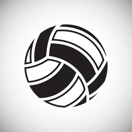 Volleyball ball icon on white background for graphic and web design, Modern simple vector sign. Internet concept. Trendy symbol for website design web button or mobile app