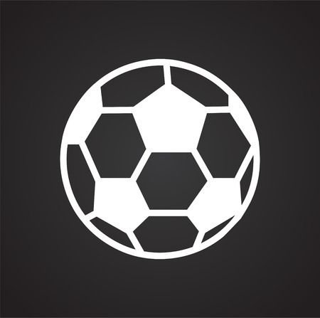 Soccer ball icon on black background for graphic and web design, Modern simple vector sign. Internet concept. Trendy symbol for website design web button or mobile app