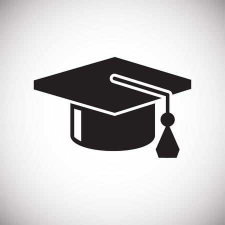 Graduation cap icon on white background for graphic and web design, Modern simple vector sign. Internet concept. Trendy symbol for website design web button or mobile app