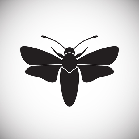 Moth Insect icon on white background for graphic and web design, Modern simple vector sign. Internet concept. Trendy symbol for website design web button or mobile app Illustration