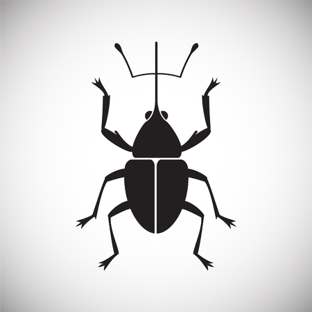 Bug Insect icon on white background for graphic and web design, Modern simple vector sign. Internet concept. Trendy symbol for website design web button or mobile app