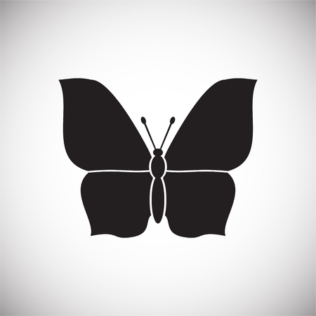 Moth Insect icon on white background for graphic and web design, Modern simple vector sign. Internet concept. Trendy symbol for website design web button or mobile app 免版税图像