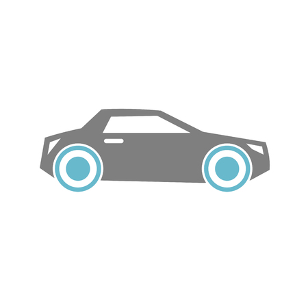 Car icon on white background for graphic and web design, Modern simple vector sign. Internet concept. Trendy symbol for website design web button or mobile app 스톡 콘텐츠