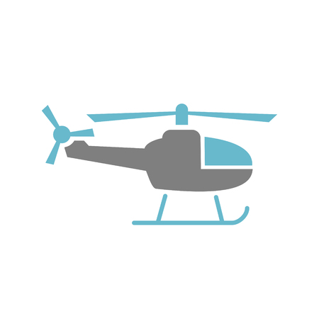 Helicopter icon on white background for graphic and web design, Modern simple vector sign. Internet concept. Trendy symbol for website design web button or mobile app