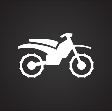 Motorcycle icon on black background for graphic and web design, Modern simple vector sign. Internet concept. Trendy symbol for website design web button or mobile app