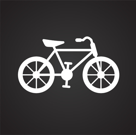 Bicycle icon on black background for graphic and web design, Modern simple vector sign. Internet concept. Trendy symbol for website design web button or mobile app Reklamní fotografie - 116643607