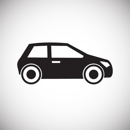 Car icon on white background for graphic and web design, Modern simple vector sign. Internet concept. Trendy symbol for website design web button or mobile app 免版税图像