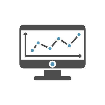 Data analysys icon on white background for graphic and web design, Modern simple vector sign. Internet concept. Trendy symbol for website design web button or mobile app