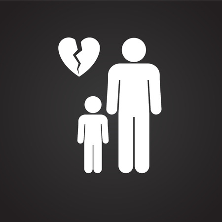 One parenting on black background icon for app or web using