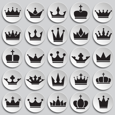 Crown icon set on plates background for graphic and web design, Modern simple vector sign. Internet concept. Trendy symbol for website design web button or mobile app.