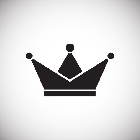 Crown icon on white background for graphic and web design, Modern simple vector sign. Internet concept. Trendy symbol for website design web button or mobile app. Vector Illustration
