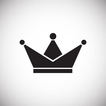 Kronensymbol auf weißem Hintergrund für Grafik- und Webdesign, modernes einfaches Vektorzeichen. Internet-Konzept. Trendiges Symbol für Website-Design-Web-Button oder mobile App. Vektorgrafik