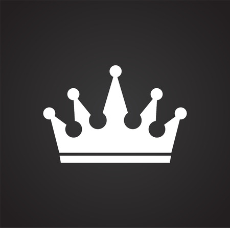Crown icon on black background for graphic and web design, Modern simple vector sign. Internet concept. Trendy symbol for website design web button or mobile app.