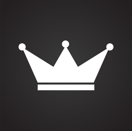Crown icon on black background for graphic and web design, Modern simple vector sign. Internet concept. Trendy symbol for website design web button or mobile app. 版權商用圖片 - 125943809