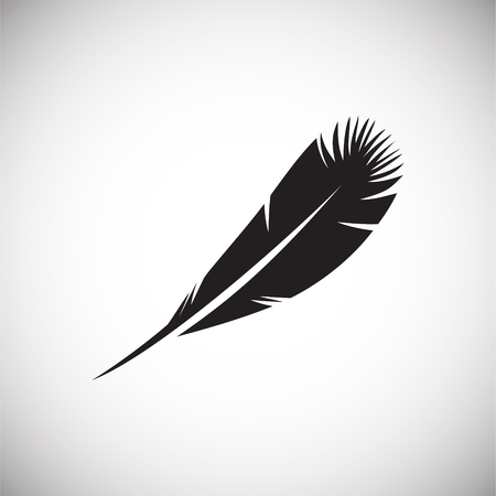 Feather icons set on white background for graphic and web design, Modern simple vector sign. Internet concept. Trendy symbol for website design web button or mobile app Illustration
