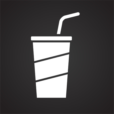Beverage icon on black background for graphic and web design, Modern simple vector sign. Internet concept. Trendy symbol for website design web button or mobile app
