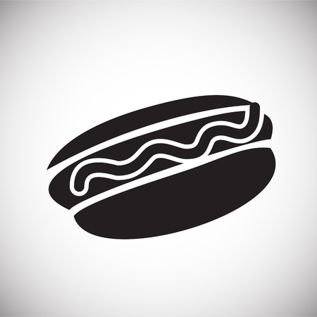 Hot dog icon on white background for graphic and web design, Modern simple vector sign. Internet concept. Trendy symbol for website design web button or mobile app