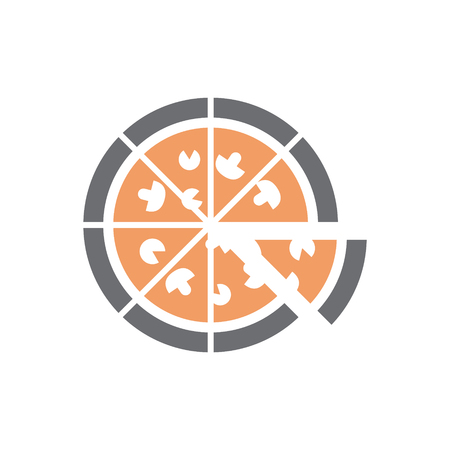 Pizza icon on white background for graphic and web design, Modern simple vector sign. Internet concept. Trendy symbol for website design web button or mobile app