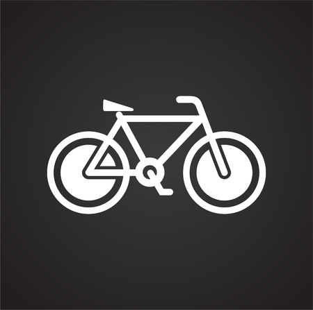 Bicycle icon on black background for graphic and web design, Modern simple vector sign. Internet concept. Trendy symbol for website design web button or mobile app