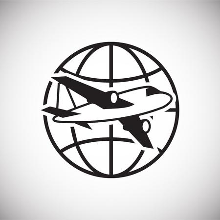 Icono de globo sobre fondo blanco para diseño gráfico y web sencillo, moderno, signo de vectores. Concepto de internet. Símbolo de moda para el botón web de diseño de sitios web o aplicaciones móviles