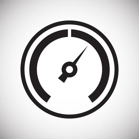 Analog gauge meter on white background for graphic and web design, Modern simple vector sign. Internet concept. Trendy symbol for website design web button or mobile app Illustration