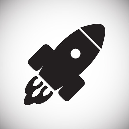 Rocket icon on white background for graphic and web design, Modern simple vector sign. Internet concept. Trendy symbol for website design web button or mobile app Stock fotó