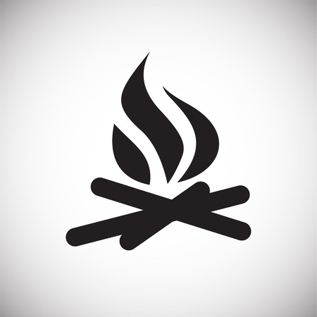 Campfire icon on white background for graphic and web design, Modern simple vector sign. Internet concept. Trendy symbol for website design web button or mobile app Illustration