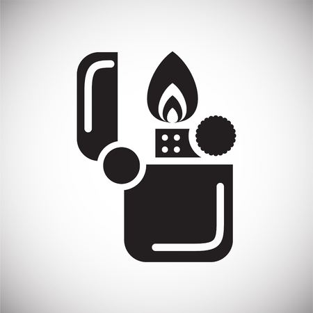 Camping lighter icon on white background for graphic and web design, Modern simple vector sign. Internet concept. Trendy symbol for website design web button or mobile app Vecteurs