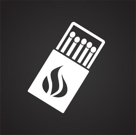 Match icon on black background for graphic and web design, Modern simple vector sign. Internet concept. Trendy symbol for website design web button or mobile app Vecteurs