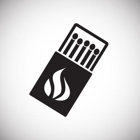 Icône de correspondance sur fond blanc pour la conception graphique et web, simple signe vecteur moderne. Notion Internet. Symbole à la mode pour le bouton web de conception de site Web ou l'application mobile Vecteurs