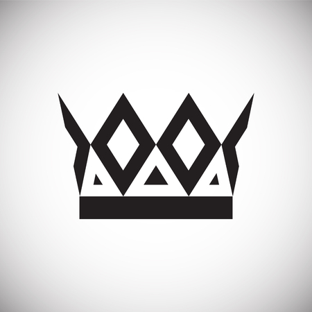 Crown set on white background for graphic and web design, Modern simple vector sign. Internet concept. Trendy symbol for website design web button or mobile app