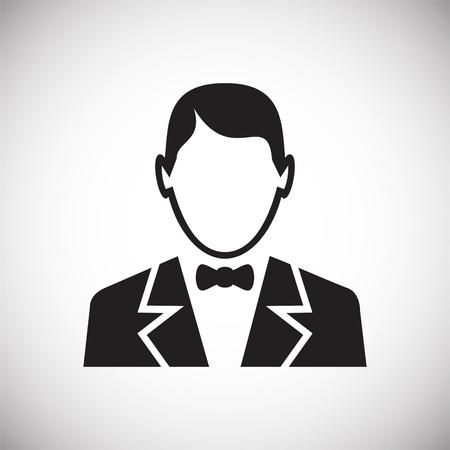 Profile icon on white background for graphic and web design, Modern simple vector sign. Internet concept. Trendy symbol for website design web button or mobile app Vektoros illusztráció