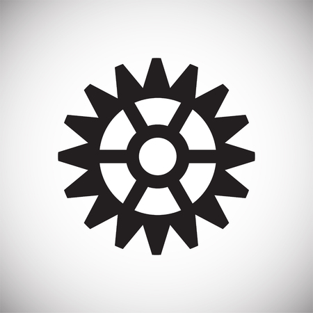 Gear icon on white background for graphic and web design, Modern simple vector sign. Internet concept. Trendy symbol for website design web button or mobile app