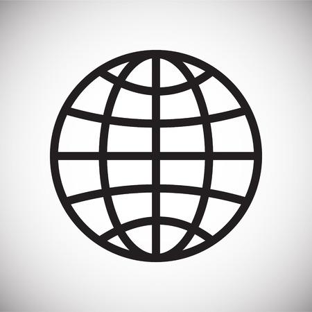 Icône de globe sur fond blanc pour la conception graphique et web, simple signe vecteur moderne. Notion Internet. Symbole à la mode pour le bouton Web de conception de site Web ou l'application mobile Vecteurs
