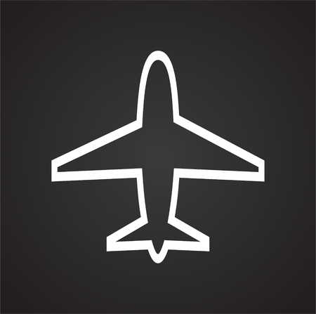 Airplane icons on black background for graphic and web design, Modern simple vector sign. Internet concept. Trendy symbol for website design web button or mobile app