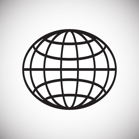 Globe icon on white background for graphic and web design, Modern simple vector sign. Internet concept. Trendy symbol for website design web button or mobile app