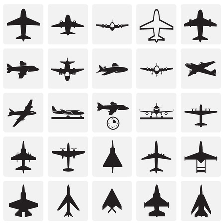 Airplane icons on squares background for graphic and web design, Modern simple vector sign. Internet concept. Trendy symbol for website design web button or mobile app