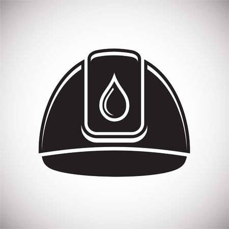 Helmet of oil industry icon on white background for graphic and web design, Modern simple vector sign. Internet concept. Trendy symbol for website design web button or mobile app