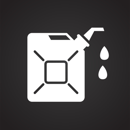 Oil product icon on black background for graphic and web design, Modern simple vector sign. Internet concept. Trendy symbol for website design web button or mobile app