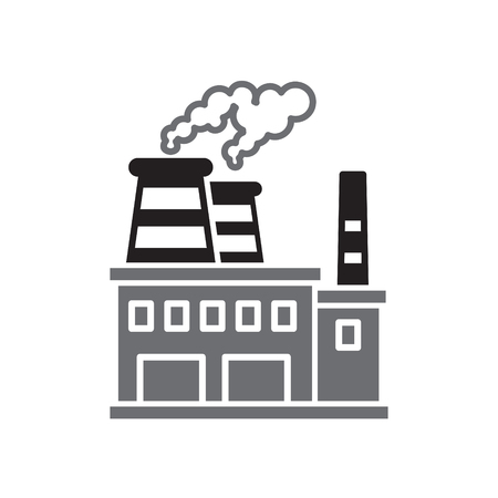 Oil refining industry icon on white background for graphic and web design, Modern simple vector sign. Internet concept. Trendy symbol for website design web button or mobile app