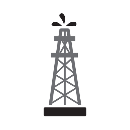 Oil production icon on white background for graphic and web design, Modern simple vector sign. Internet concept. Trendy symbol for website design web button or mobile app