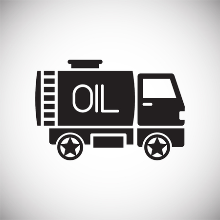 Oil delivery icon on white background for graphic and web design, Modern simple vector sign. Internet concept. Trendy symbol for website design web button or mobile app