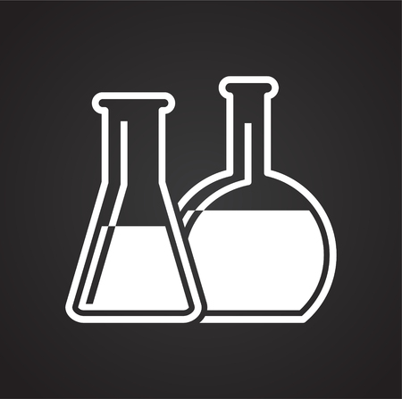Petrochemistry icon on black background for graphic and web design, Modern simple vector sign. Internet concept. Trendy symbol for website design web button or mobile app Çizim