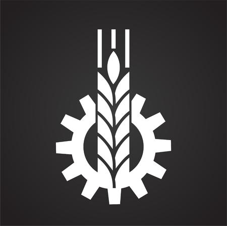 Icône de céréales sur fond noir pour la conception graphique et web, simple signe vecteur moderne. Notion Internet. Symbole à la mode pour le bouton Web de conception de site Web ou l'application mobile