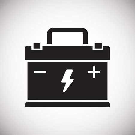 Car battery icon on white background for graphic and web design, Modern simple vector sign. Internet concept. Trendy symbol for website design web button or mobile app