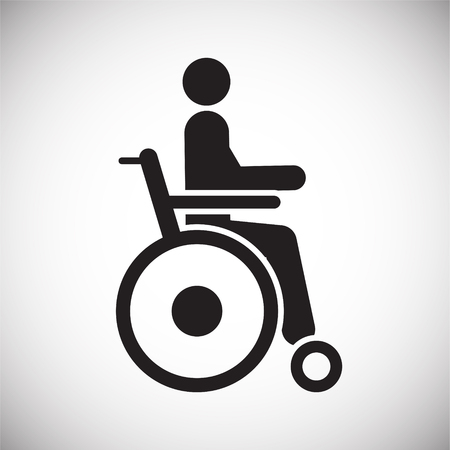 Disability icon on white background for graphic and web design, Modern simple vector sign. Internet concept. Trendy symbol for website design web button or mobile app