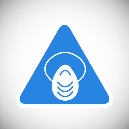 Anti dust mask sign on blue background icon