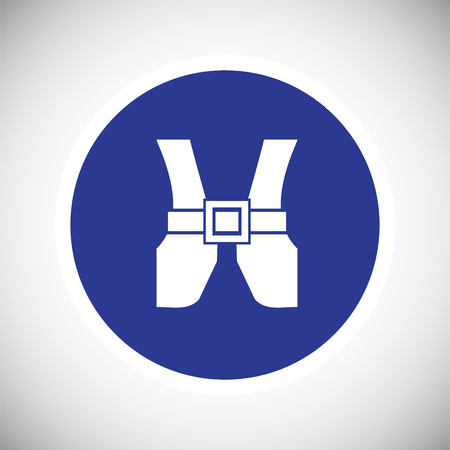 Safety west blue sign icon for web or app using